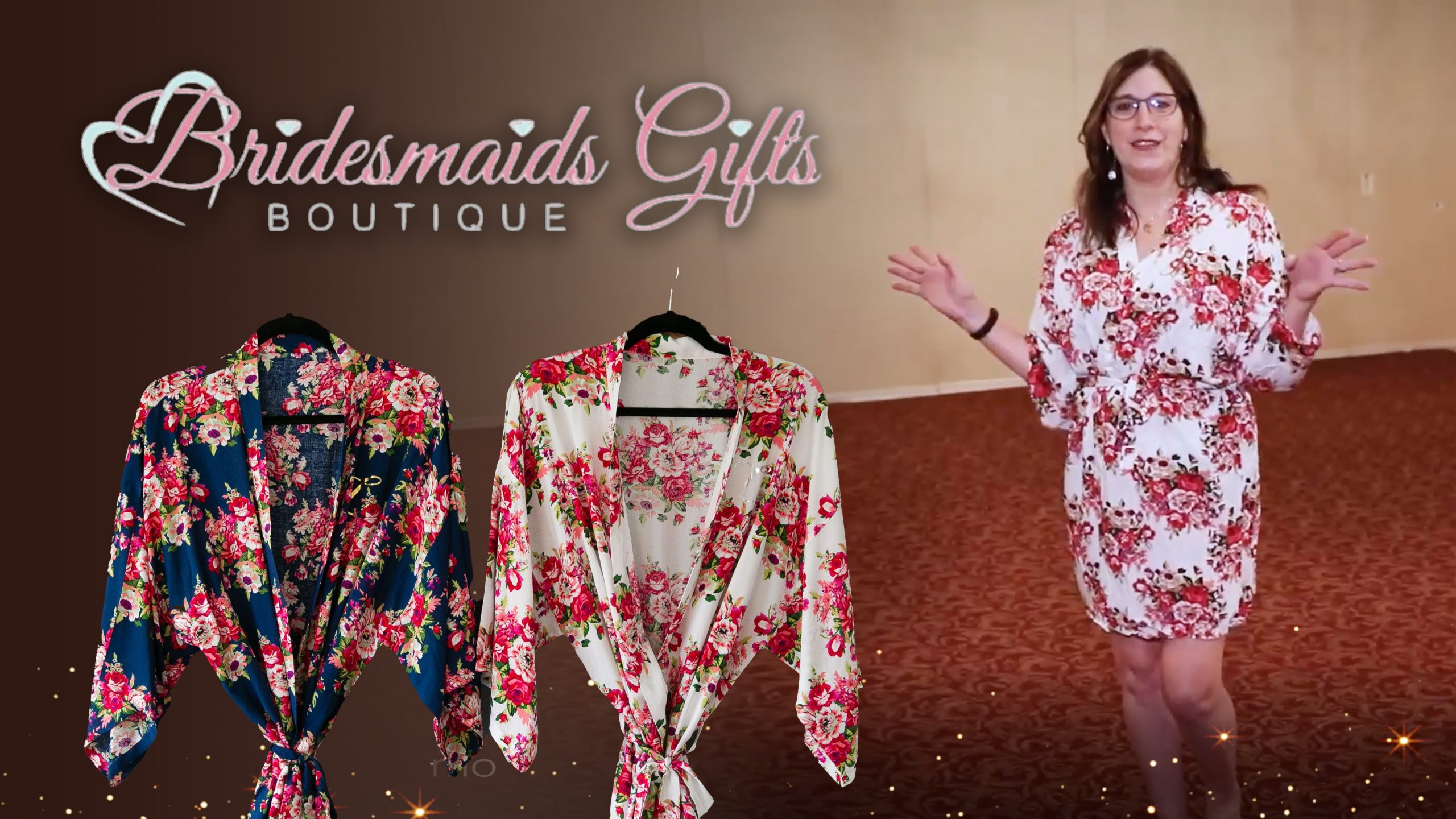 bath robes by bridesmaids gifts boutique