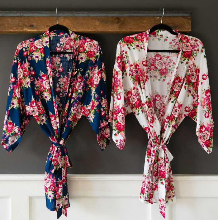 bath robes from bridesmaids gifts boutique