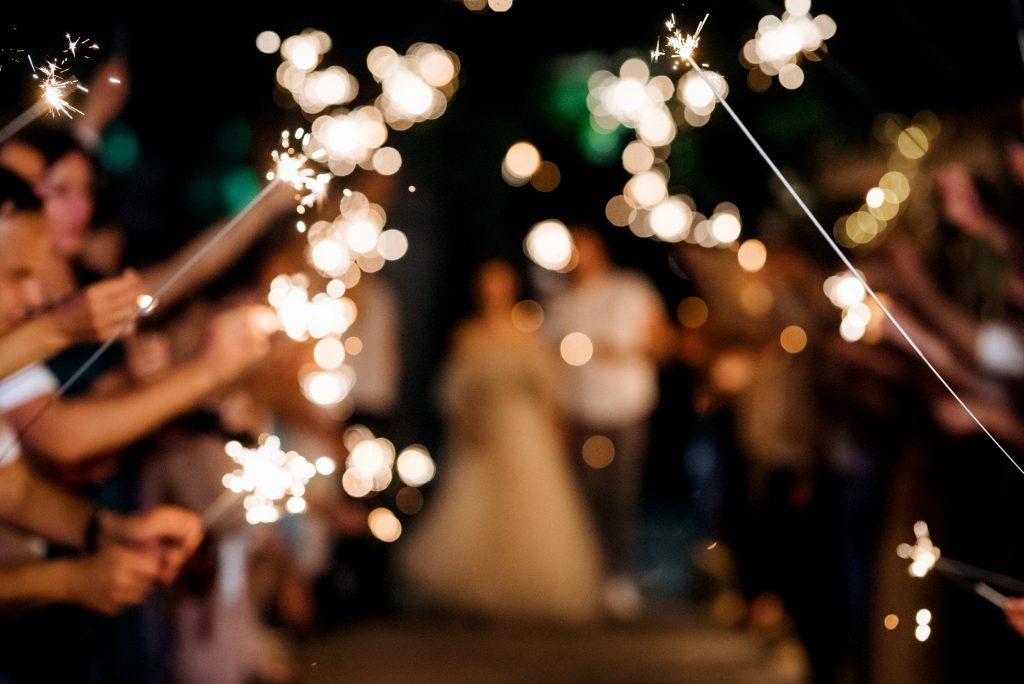 pittsburgh wedding sparklers